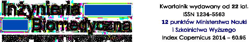 Inzynieria Biomedyczna, kwartalnik wydawny od 22 lat